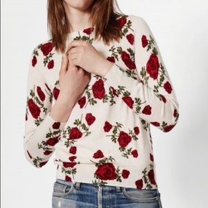 ISO Equipment Sloane sweater ivory twisted rose